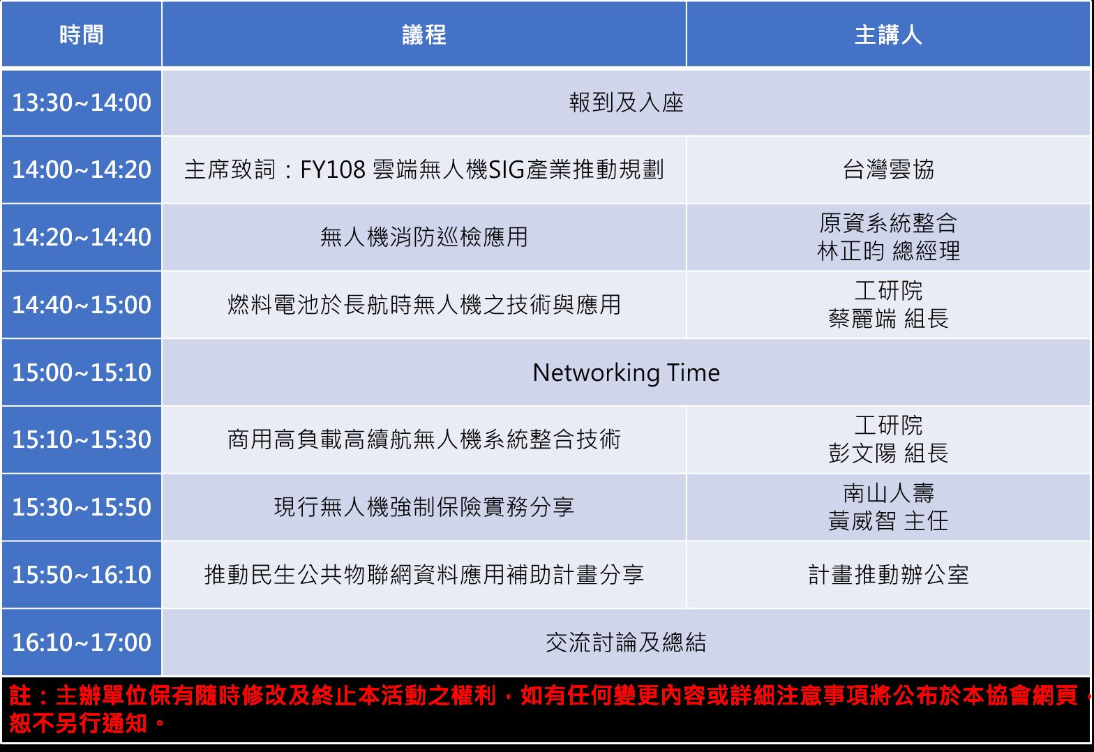 4/26 雲端無人機SIG「巡檢無疆界,雲端創智慧」茶會