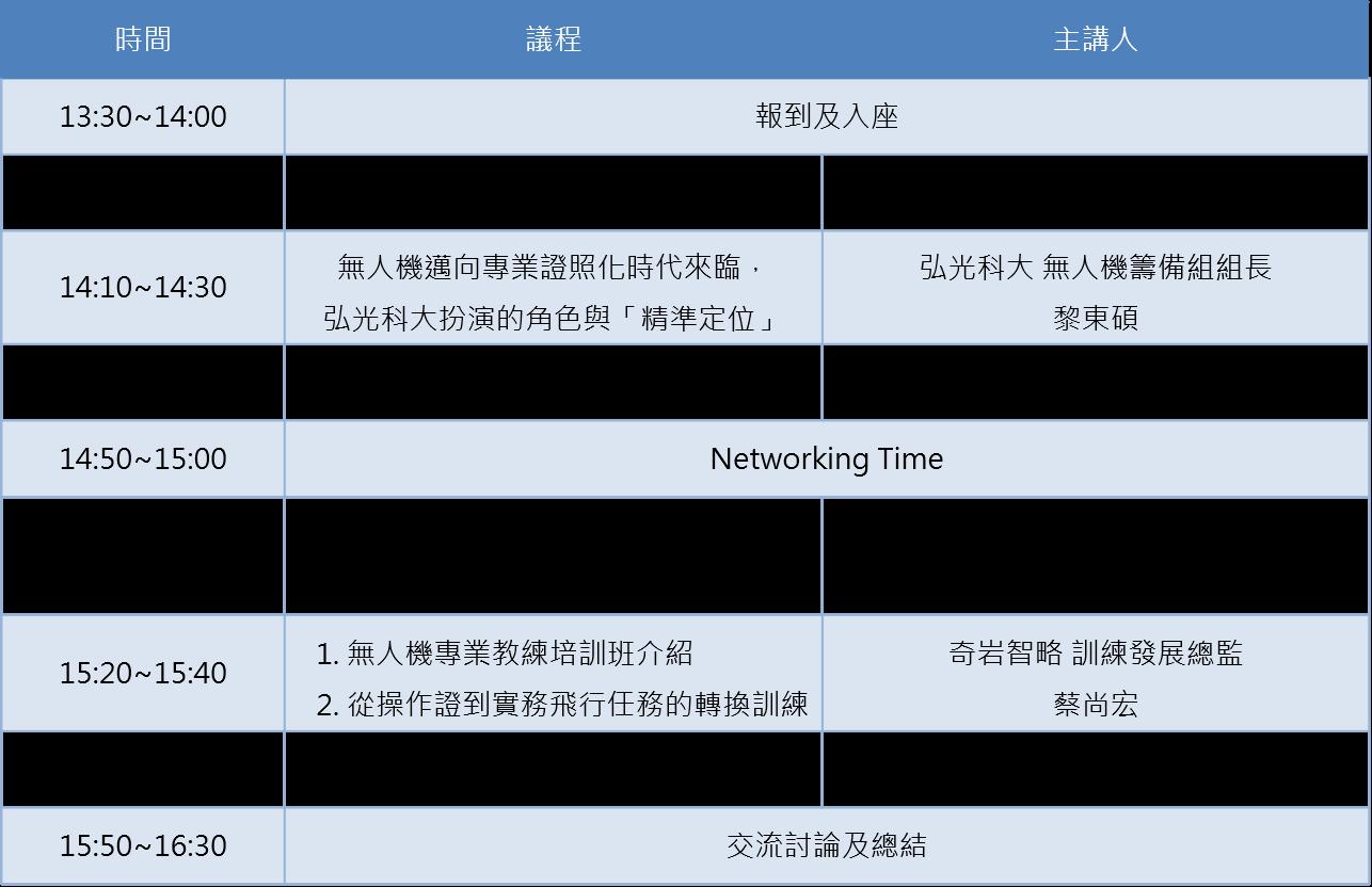 10/1 無人機培訓及考照經驗分享交流茶會