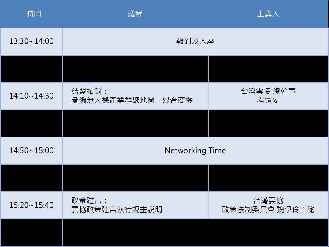 11/12 無人機應用發展及產業政策交流茶會